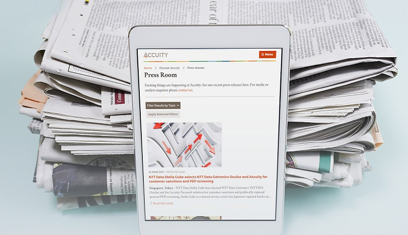 Accuity Press Room on iPad