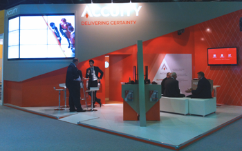 Accuity stand at Sibos Dubai 2013