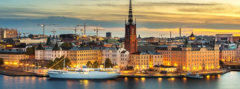 Skyline of Stockholm city
