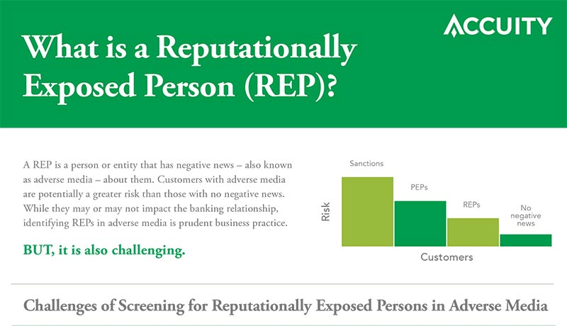 What is a Reputationally Exposed Person (REP)?